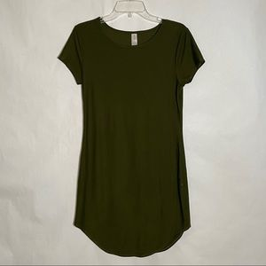 NOBO casual T Shirt Dress Olive Green size L